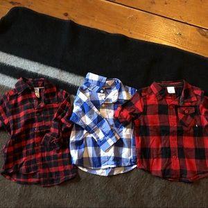 9 month flannel shirts bundle